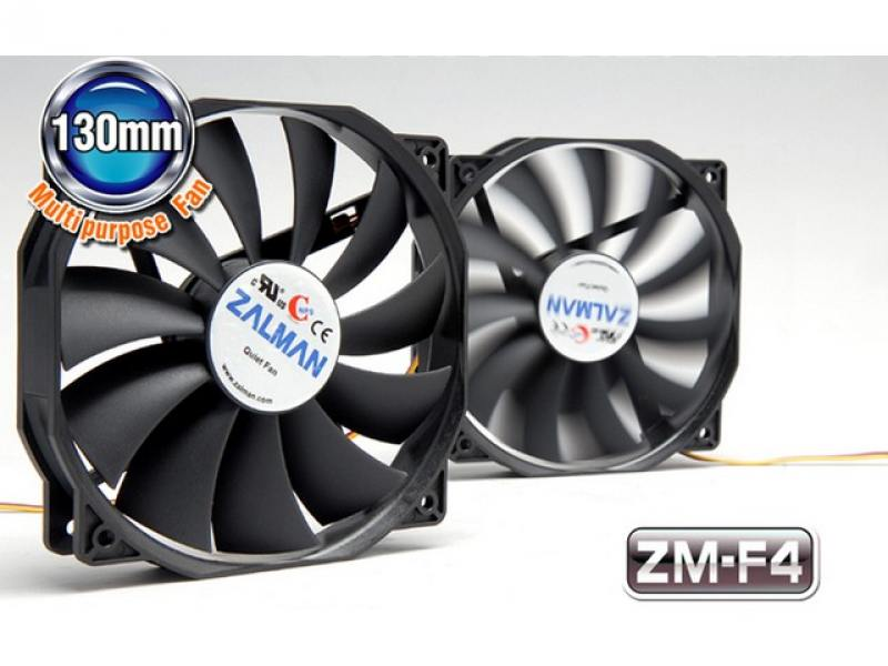 Вентилятор для корпуса zalman zm-f4 135mm advanced sleeve 900-1300rpm anti-vibration 3pin